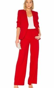 Alice + Olivia Ruby Red Wide Leg Pants NWT 10 S
